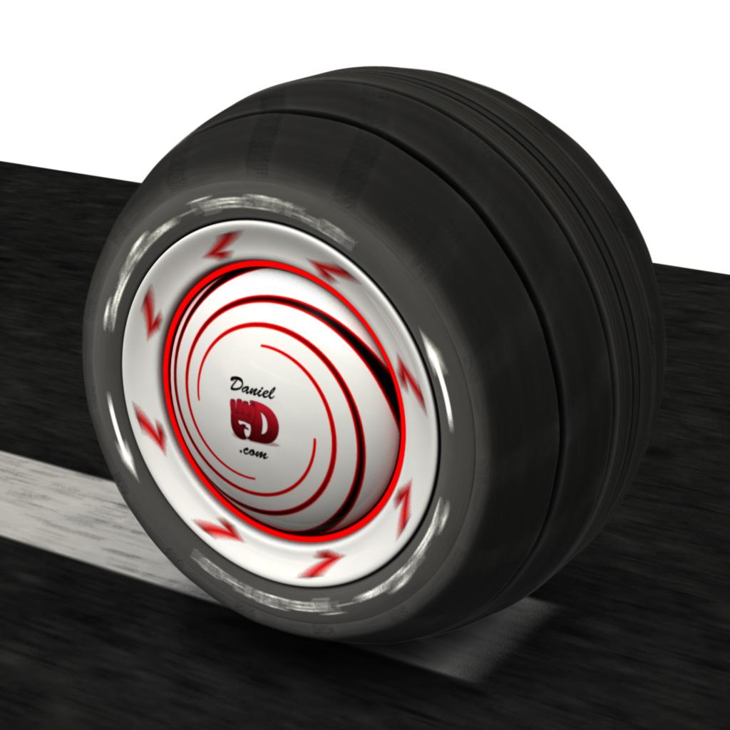 3D Wheel Motion Blur