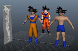 3D Goku preview