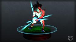3D Goku in shorts